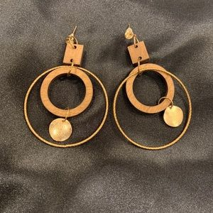 Organic/hippie hoop earrings